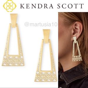 Kendra Scott Kase Large Statement Earrings Gold